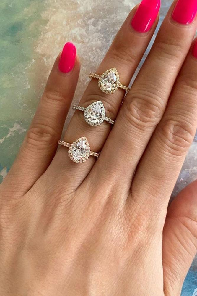 beautiful engagement rings rose gold engagement-rings pear shaped engagement rings
