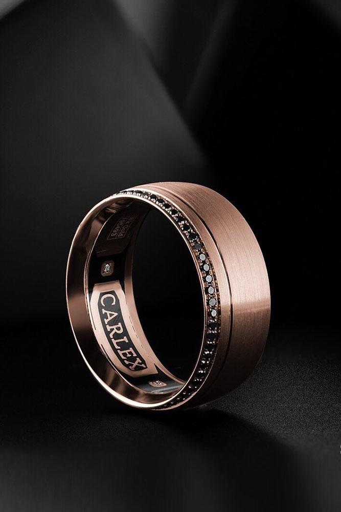 black diamond engagement rings rose gold wedding bands unique wedding bands bridal sets