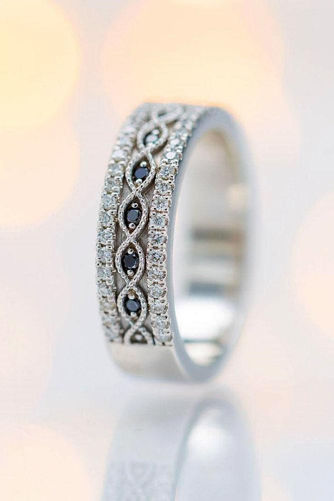 black diamond engagement rings white gold wedding bands unique wedding bands bridal sets