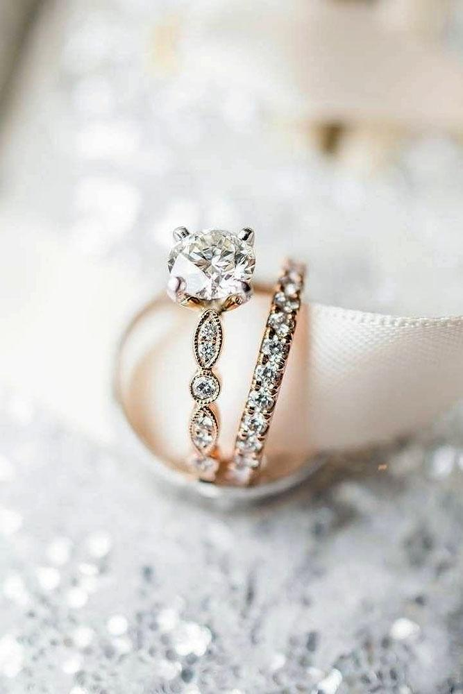 diamond wedding rings rose gold engagement rings wedding ring sets round diamond engagement rings bridal sets
