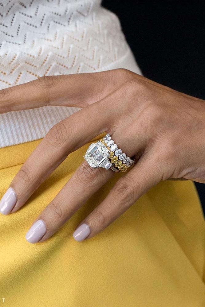 diamond wedding rings white gold engagement rings wedding ring sets bridal sets emerald cut engagement rings yellow diamond rings
