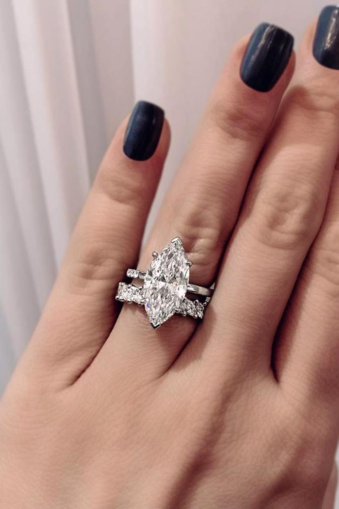 marquise diamond simple engagement ring white gold ring diamond ring