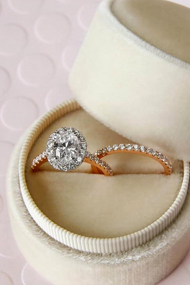 oval engagement rings diamond engagement rings rose gold engagement rings halo rings