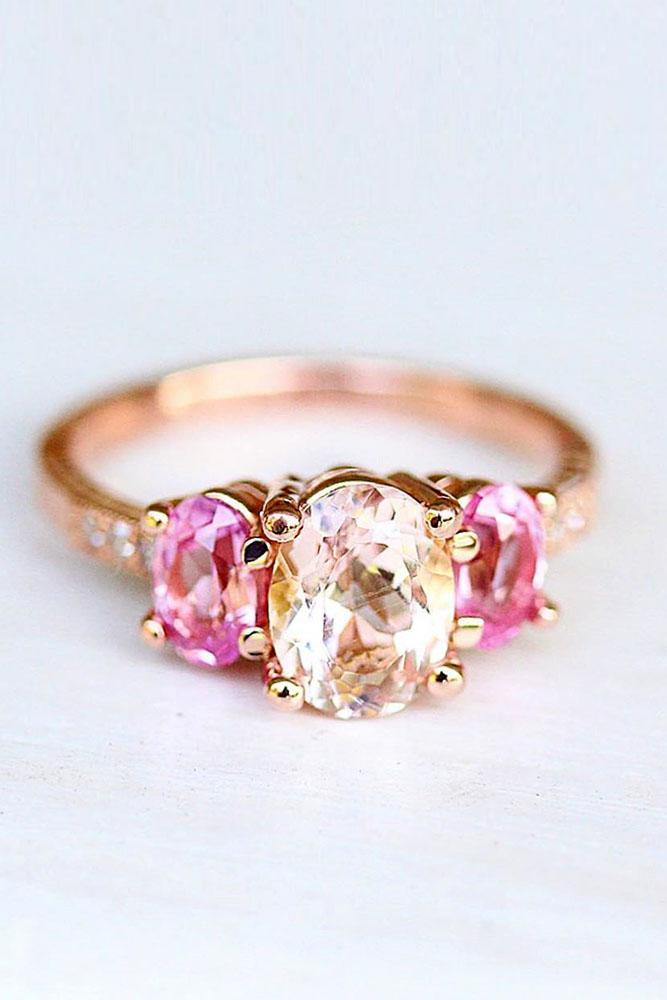 sapphire engagement rings pink sapphire engagement rings rose gold engagement rings