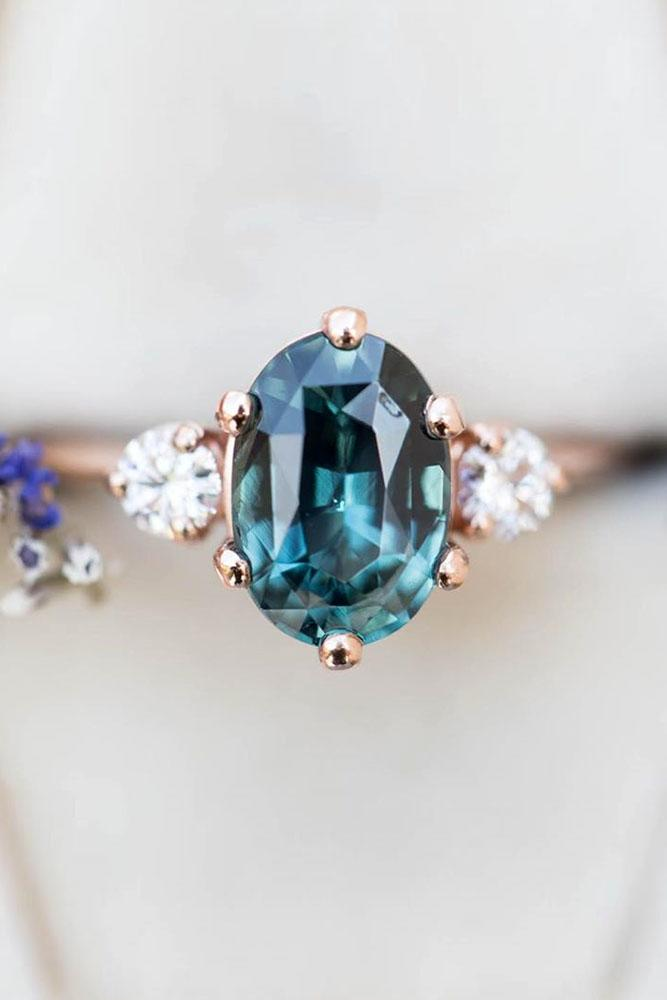 sapphire engagement rings three stone engagement rings diamond engagement rings rose gold engagement rings oval cut rings