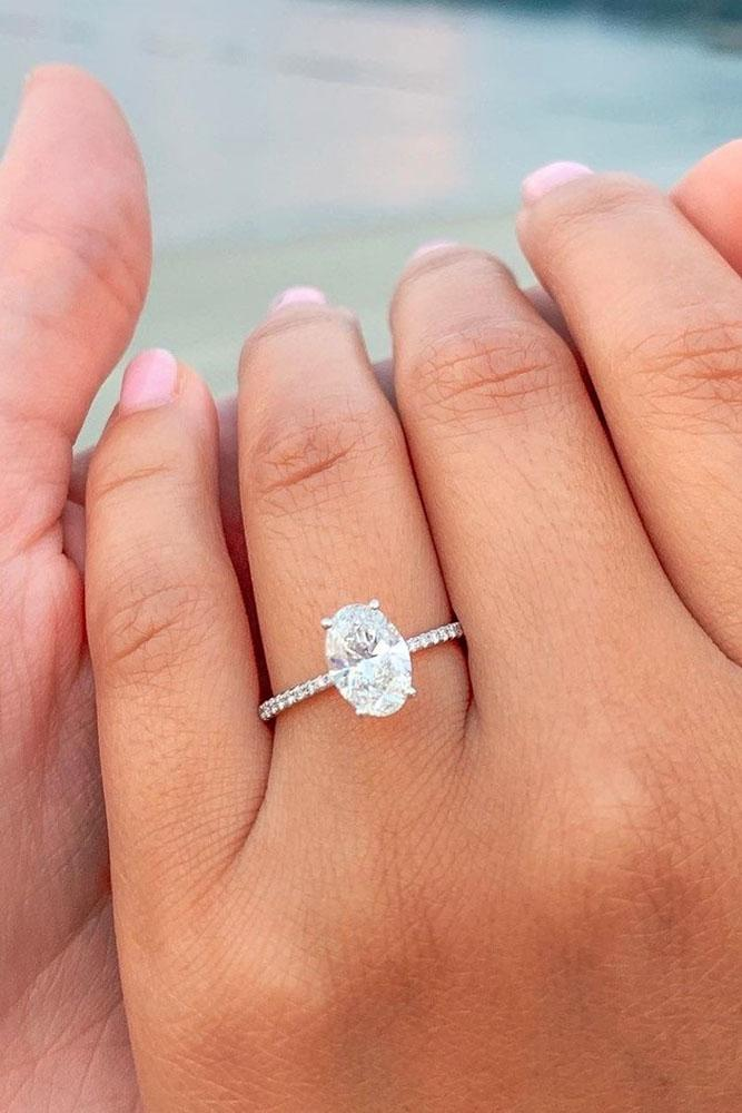 simple engagement rings oval cut engagement rings white gold engagement rings