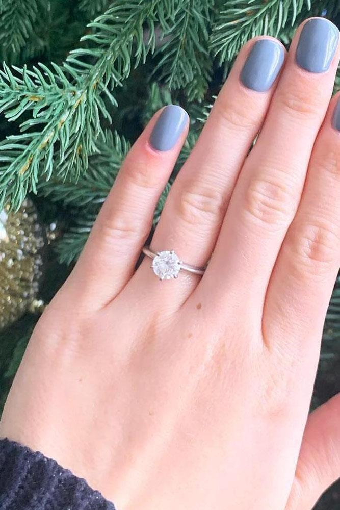 simple engagement rings round cut engagement rings white gold engagement rings