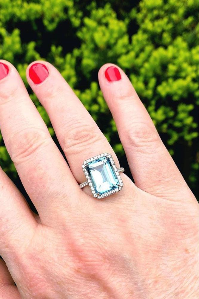 tiffany engagement rings aquamarine engagement rings white gold engagement rings halo engagement rings