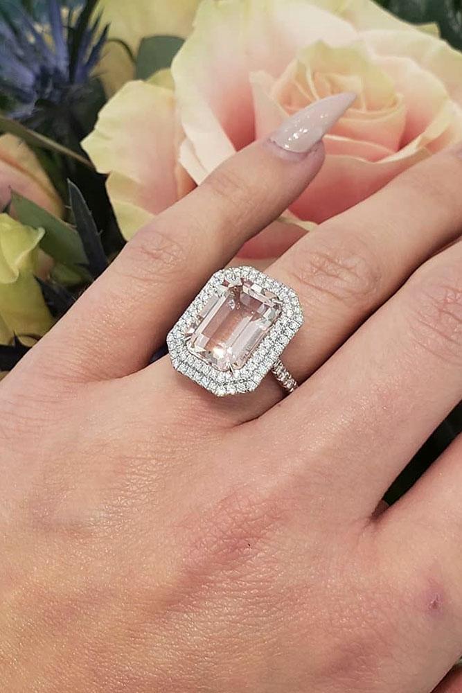 tiffany engagement rings white gold engagement rings double halo engagement rings