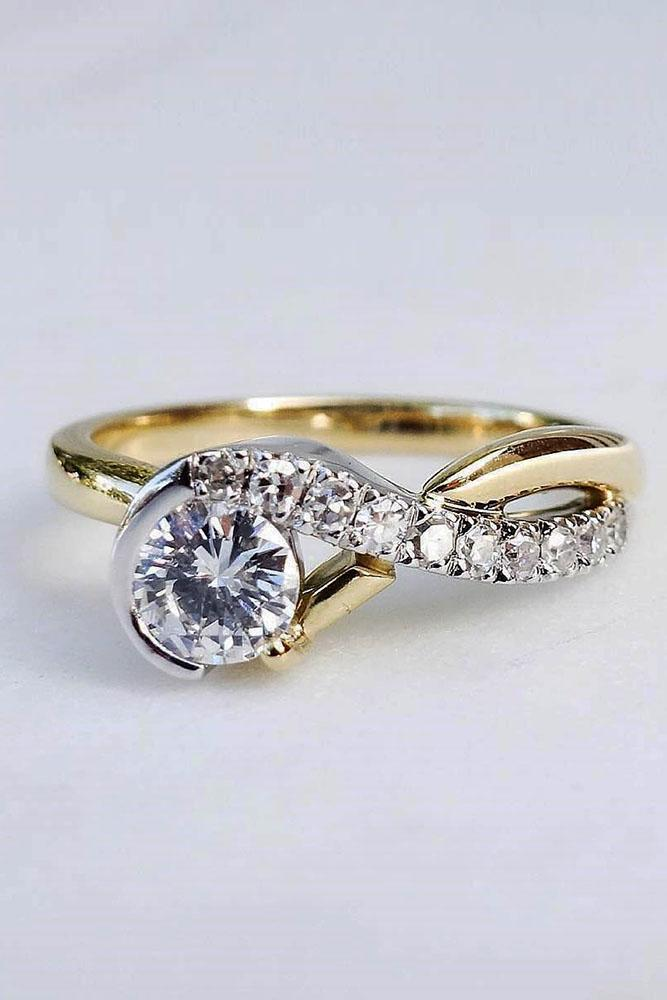 unique engagement rings yellow gold engagement rings round diamond engagement rings two tone engagement rings beautiful engagement rings