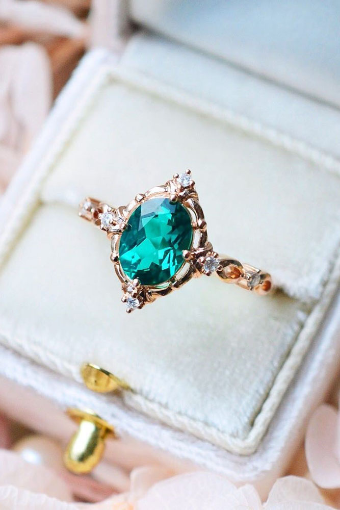 vintage engagement rings rose gold engagement rings emerald engagement rings marquise cut engagement rings
