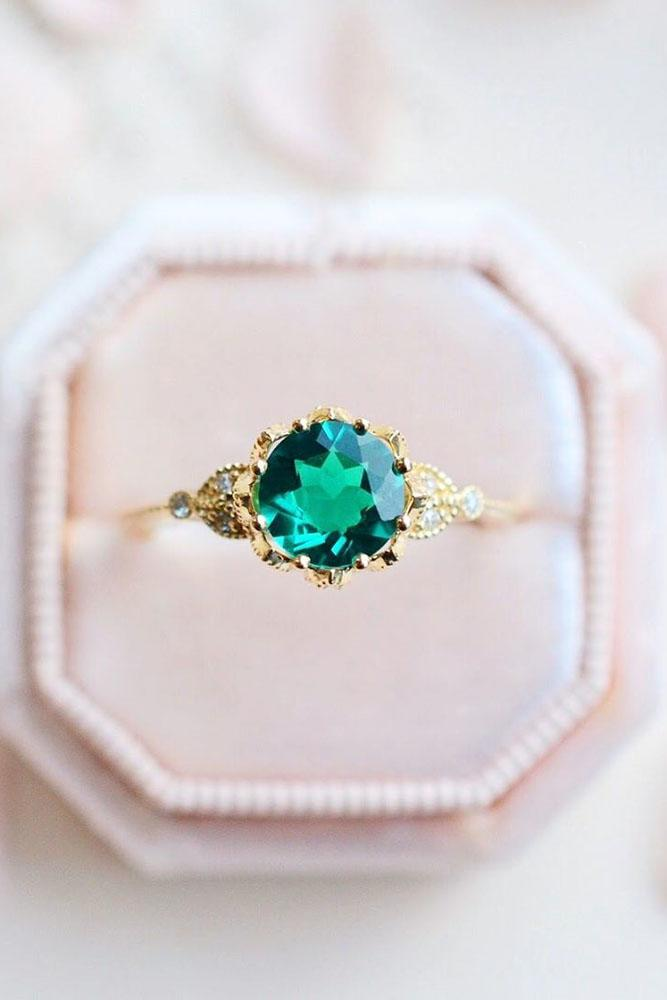 vintage engagement rings rose gold engagement rings emerald engagement rings round engagement rings