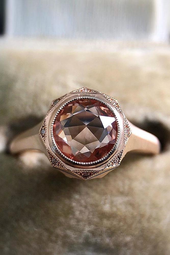 vintage engagement rings rose gold engagement rings unique engagement rings halo engagement rings sapphire engagement rings