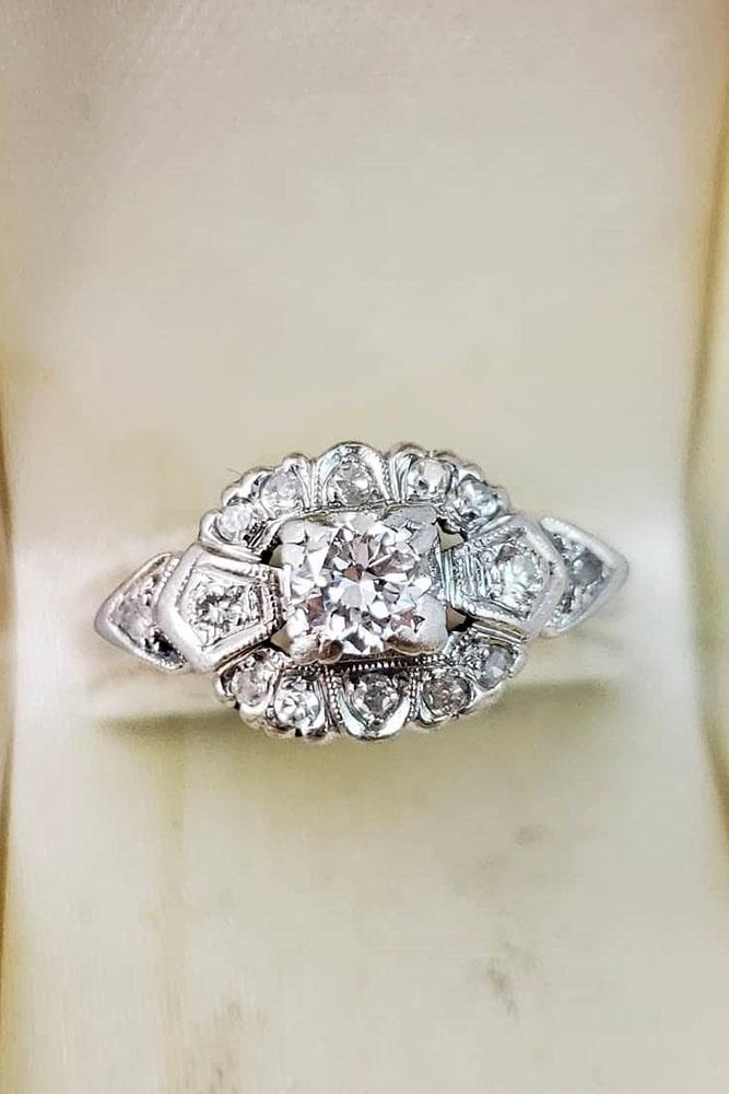 vintage engagement rings white gold engagement rings unique engagement rings best engagement rings art deco engagement rings