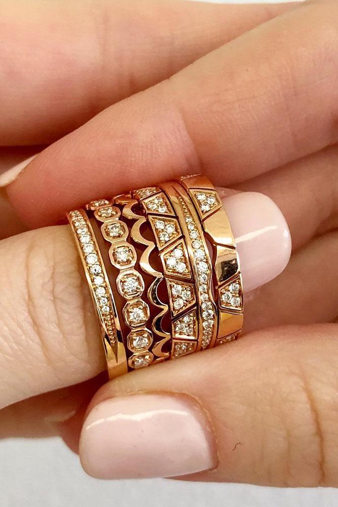 wedding rings set diamond wedding rings rose wedding rings unique wedding bands