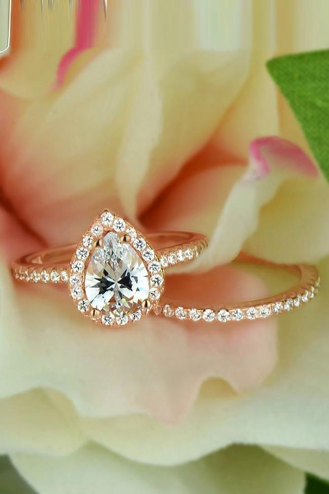 best engagement rings rose gold engagement rings pear shaped engagement rings