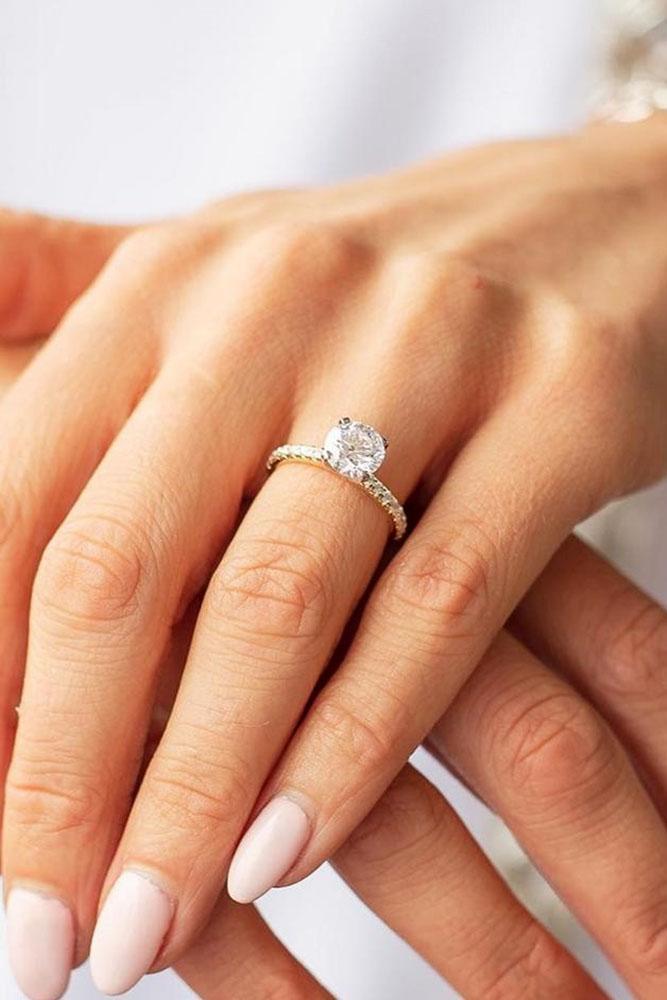 diamond engagement rings round cut engagement rings simple engagement rings