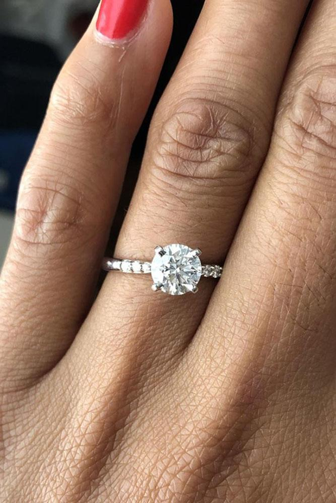 diamond engagement rings round cut engagement rings simple engagement rings white gold rings