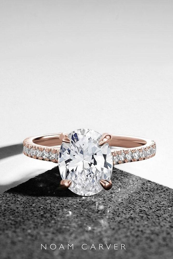 rose gold engagement rings simple engagement rings diamond engagement rings