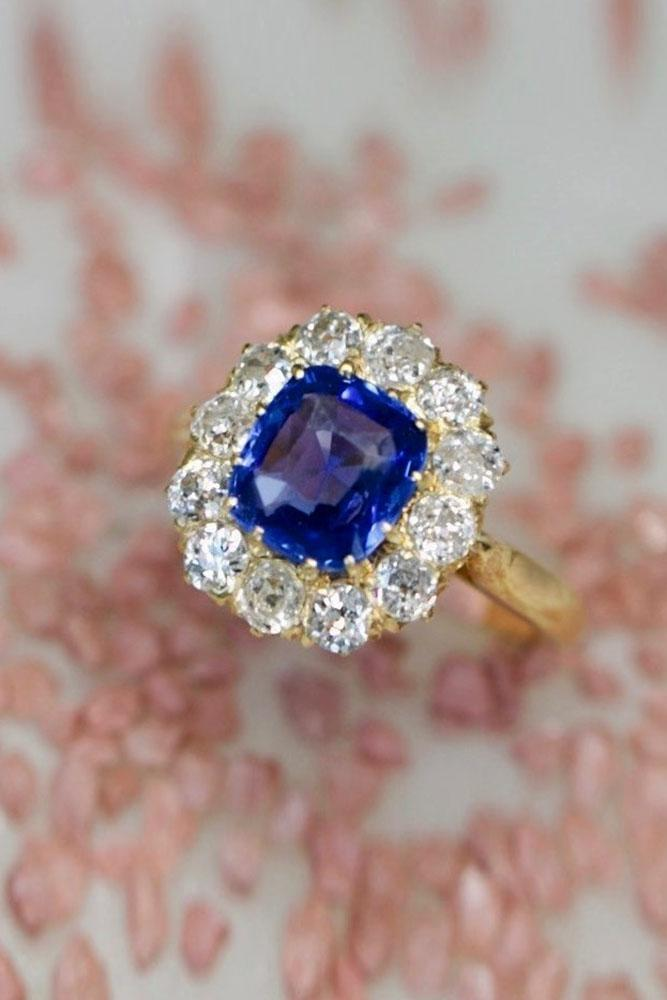 sapphire engagement rings floral engagement rings rose engagement rings halo engagement rings