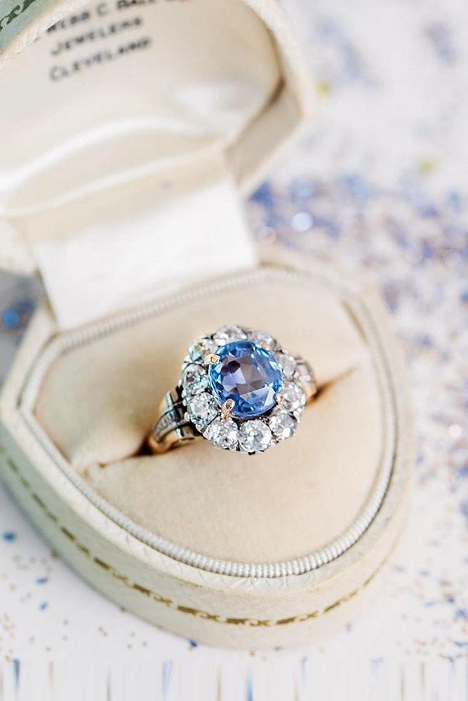 sapphire engagement rings floral engagement rings rose engagement rings unique engagement rings
