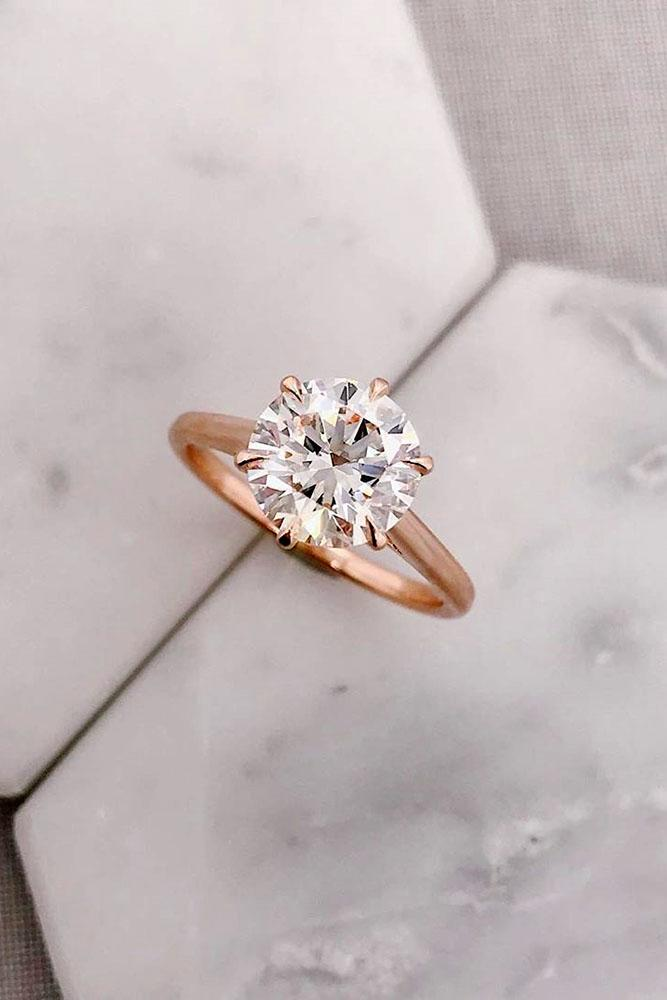 solitaire engagement rings round diamond engagement rings simple engagement rings