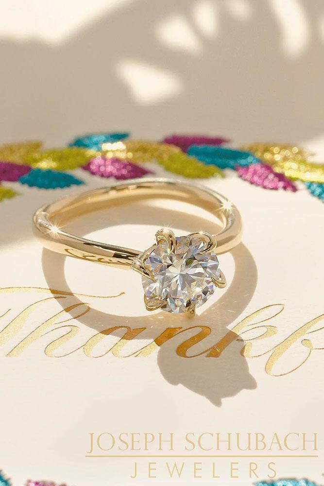 solitaire engagement rings round diamond engagement rings simple engagement rings rose gold rings