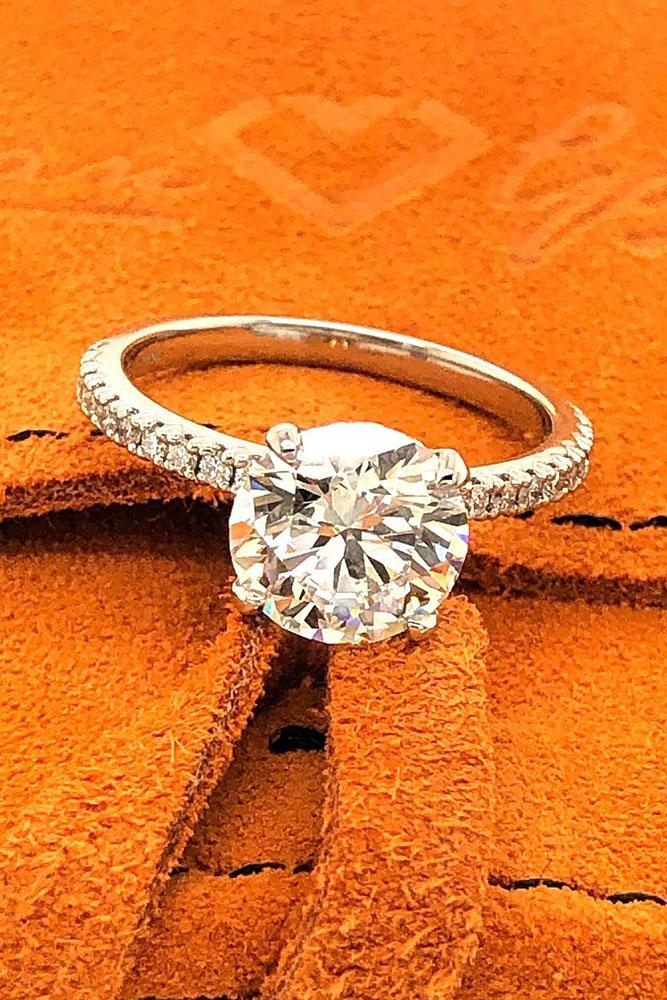 solitaire engagement rings round diamond engagement rings simple engagement rings white gold rings