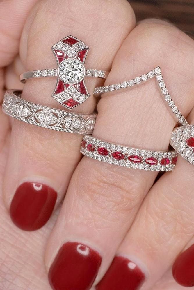 vintage engagement rings white gold engagement rings ruby engagement rings unique engagement rings