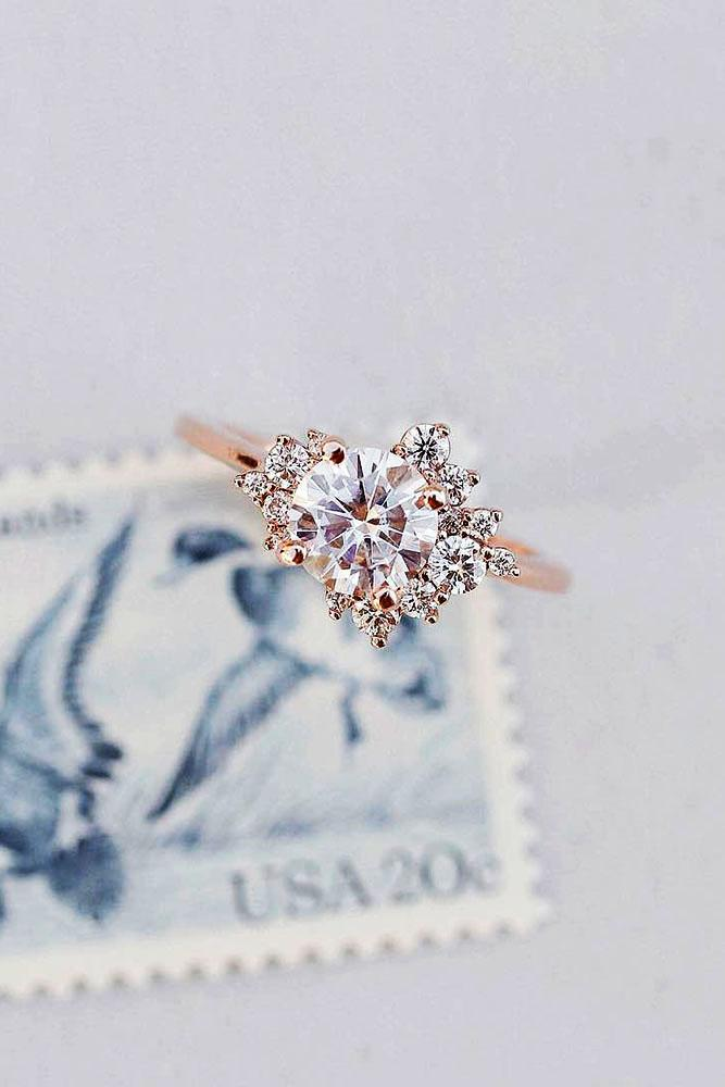 best rings 2019 rose gold engagement rings round cut enagagement rings unique rings