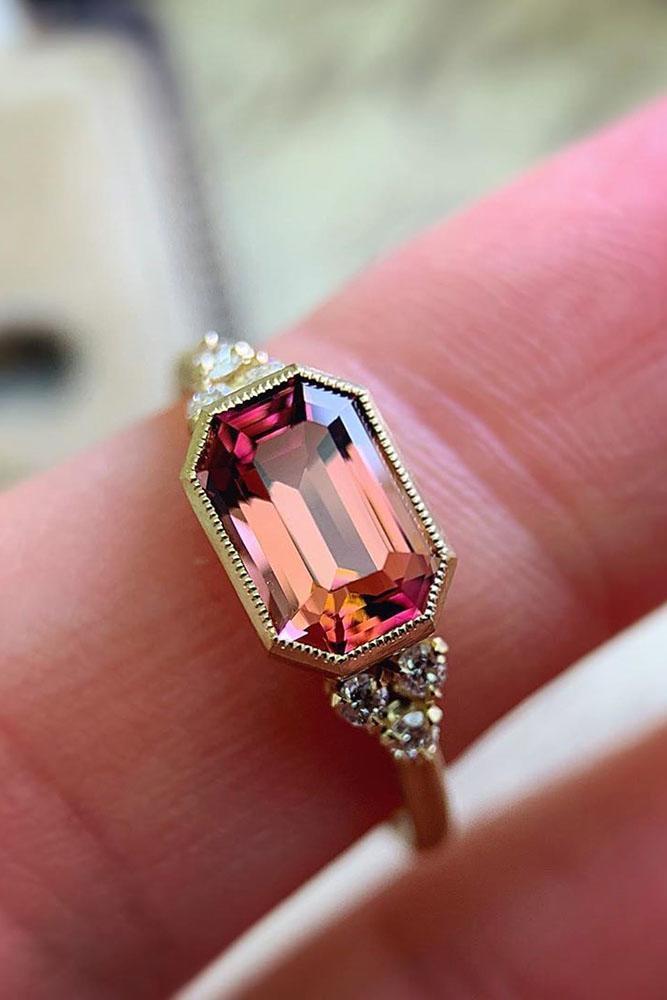 best rings 2019 vintage engagement rings rose gold engagement rings unique engagement rings tourmaline rings