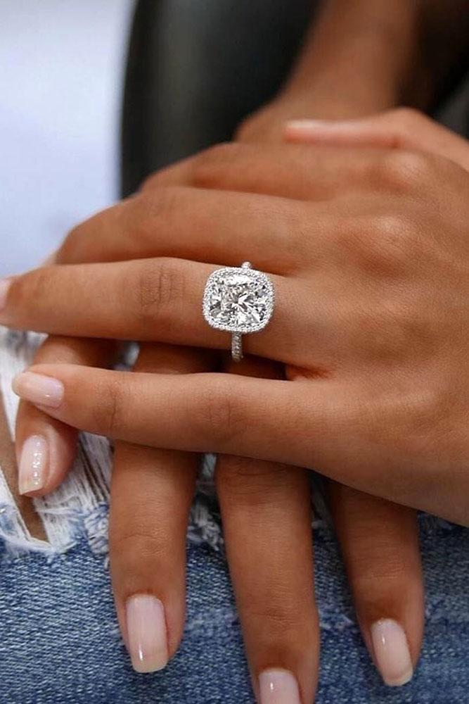best rings 2019 white gold engagement rings cushion cut engagement rings halo engagement rings