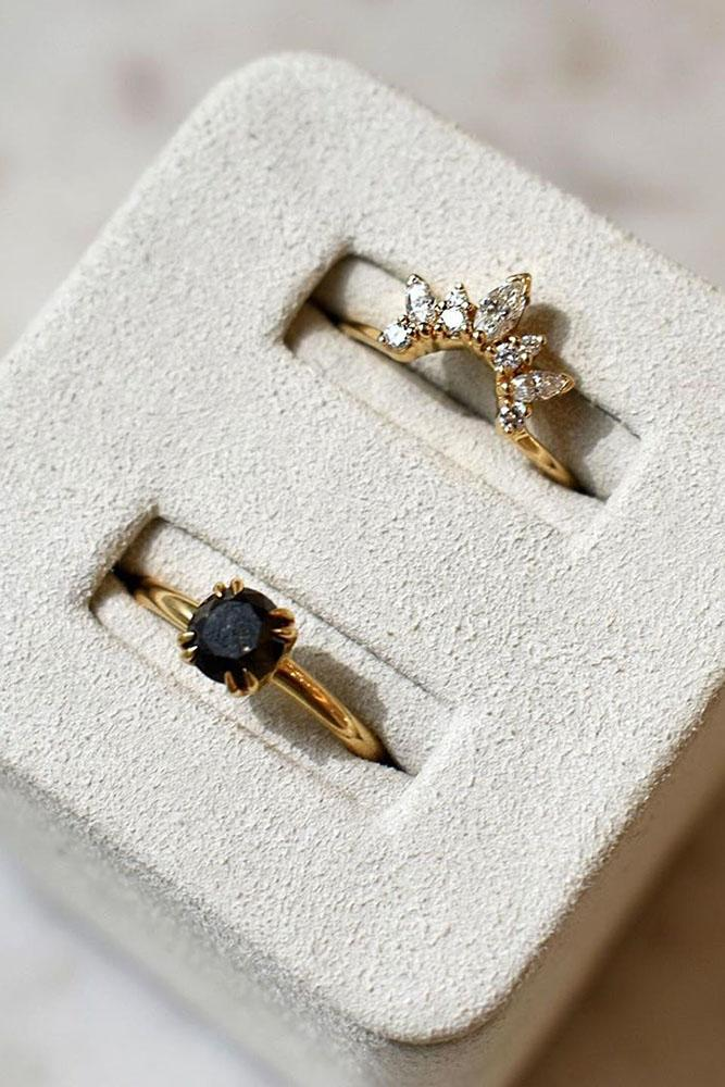 black diamond engagement rings rose gold engagement ring unique engagement rings
