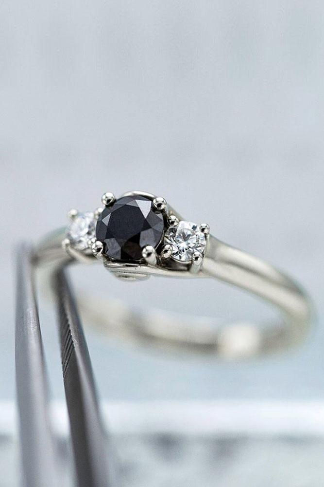 black diamond engagement rings white gold engagement ring three stone engagement rings
