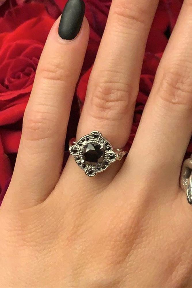 black diamond engagement rings white gold engagement ring unique engagement rings