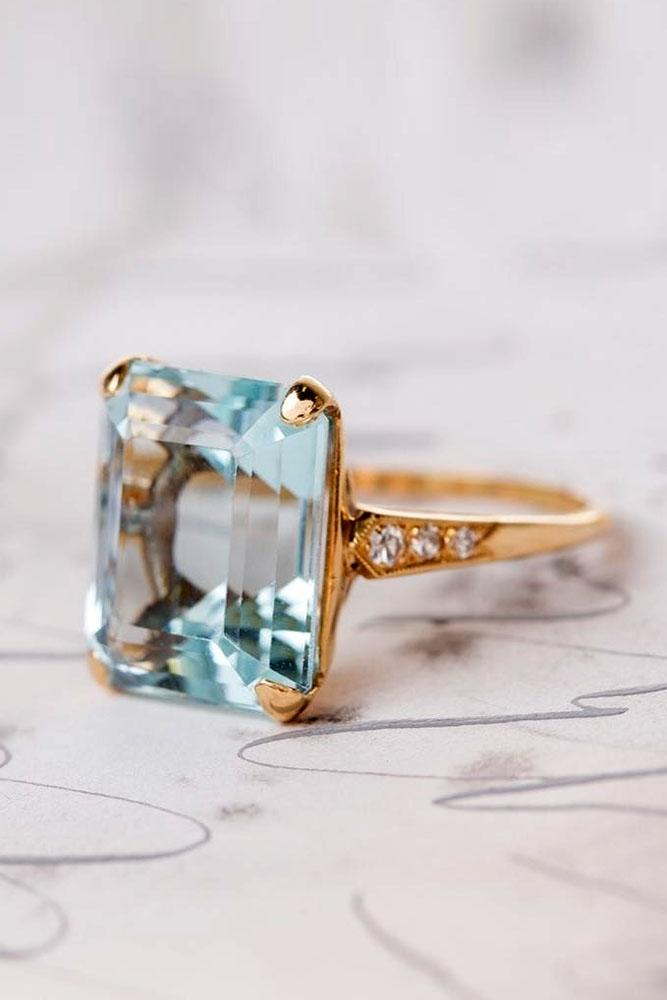colored engagement rings aquamarine engagement rings rose gold engagement rings