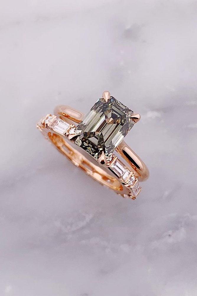 diamond engagement rings green diamond engagement rings emerald cut engagement rings