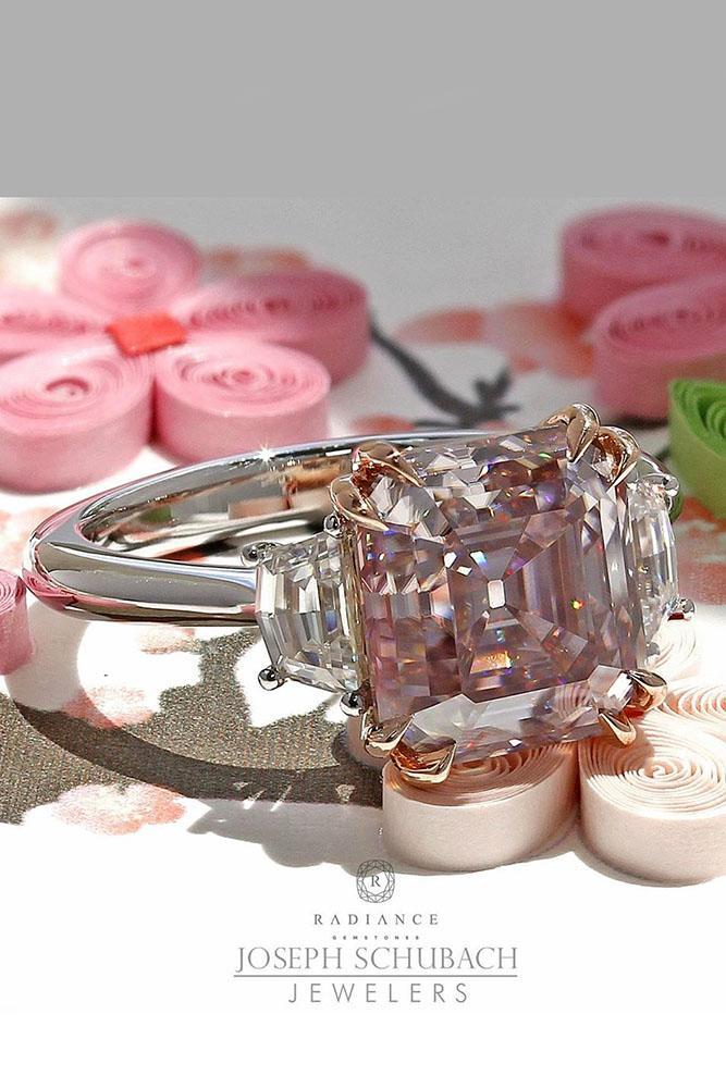diamond engagement rings pink diamond engagement rings cushion cut engagement rings