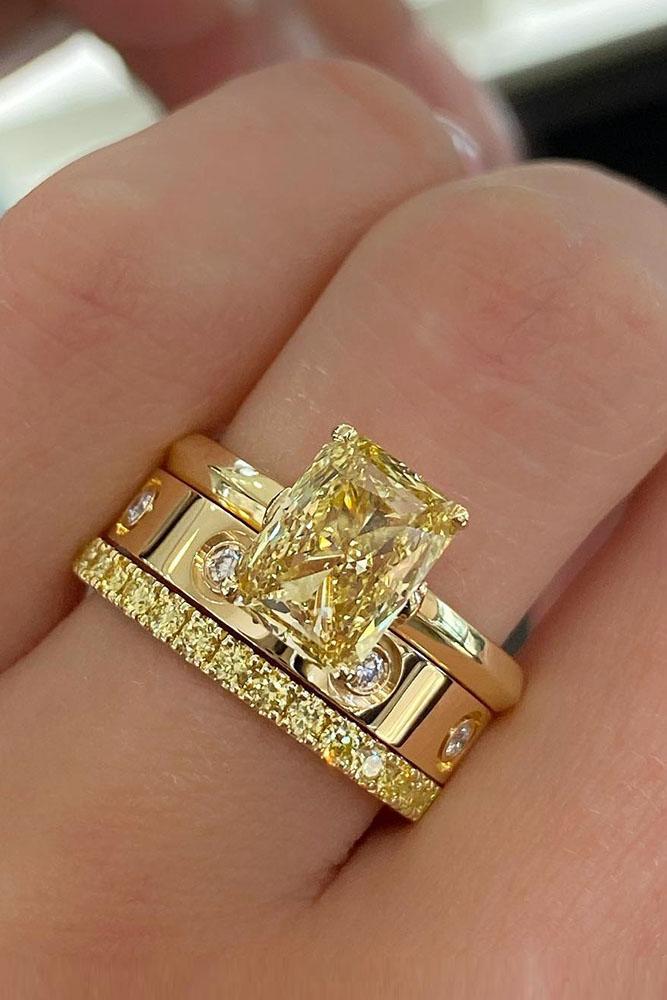 diamond engagement rings yellow diamond engagement rings emerald cut engagement rings