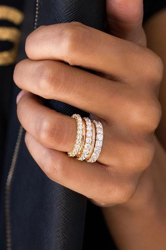 diamond wedding rings white gold wedding bands stackable bands