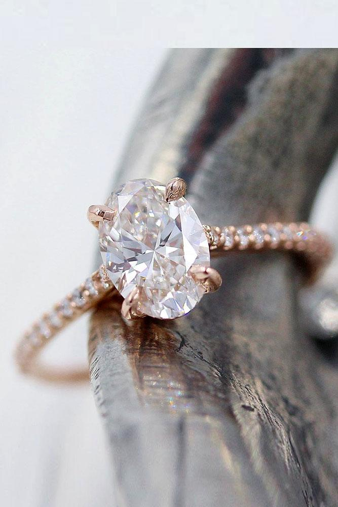 oval engagement rings diamond engagement rings rose gold engagement rings simple rings