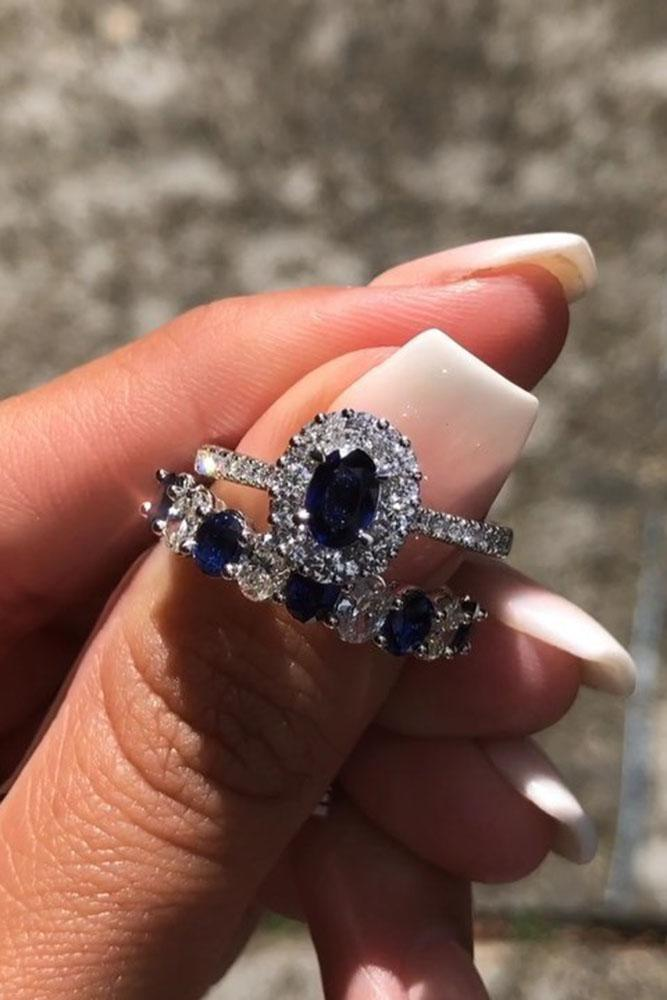 sapphire engagement rings white gold engagement rings wedding ring sets bridal sets sapphire wedding rings