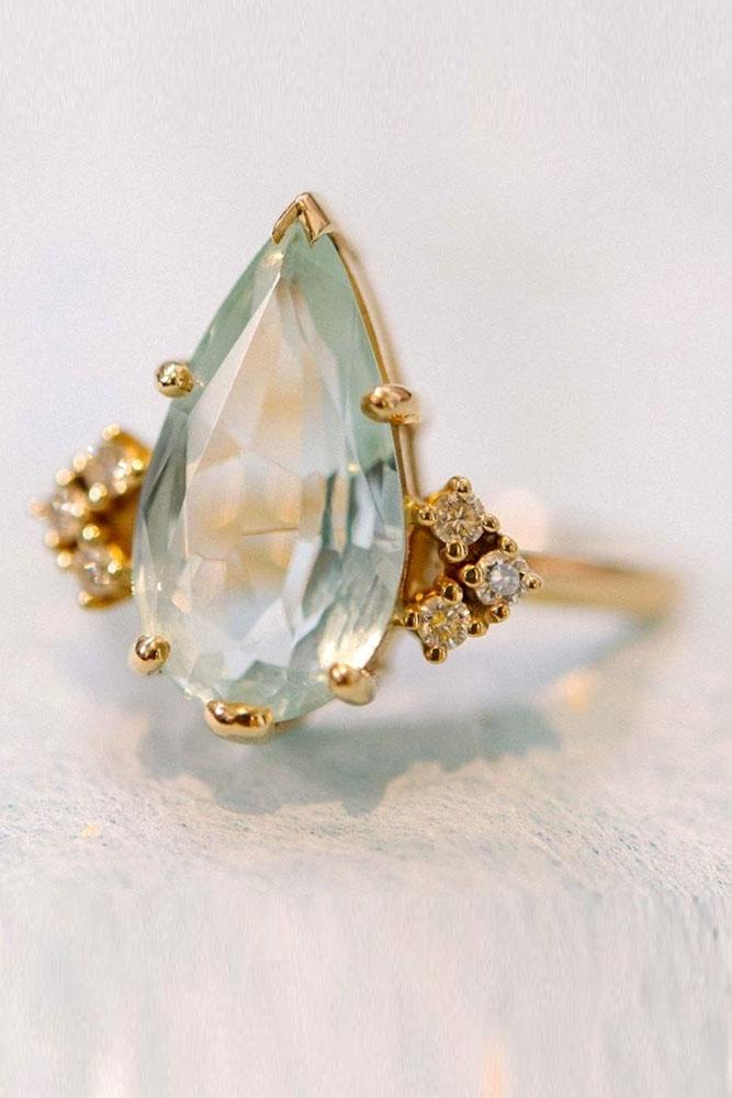 vintage engagement rings rose gold engagement rings pear shaped engagement rings aquamarine engagement rings