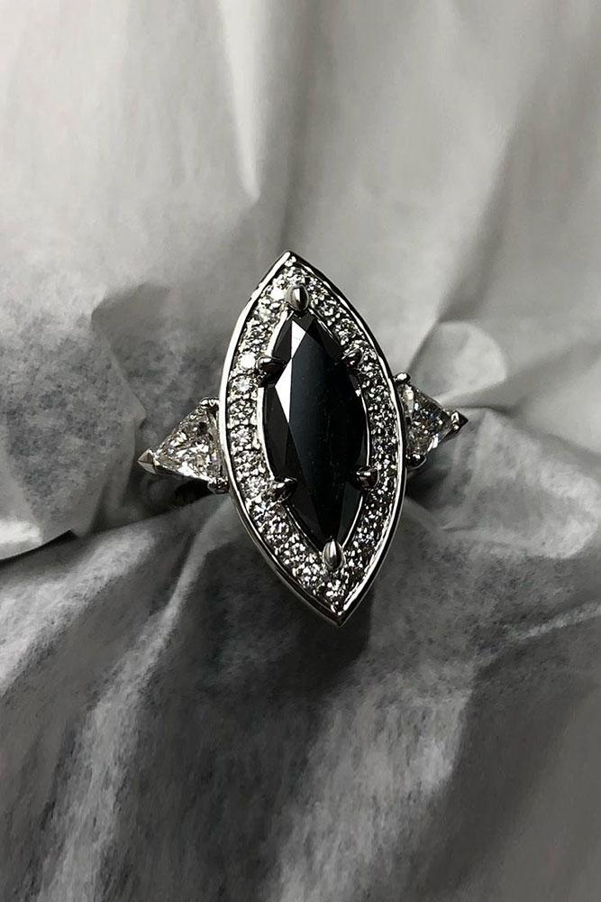 black diamond engagement rings marquise cut engagement rings vintage engagement rings