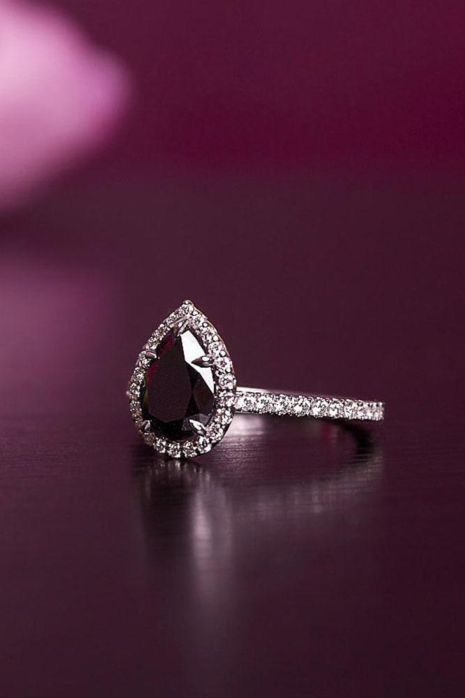 black diamond engagement rings pear cut engagement rings halo engagement rings