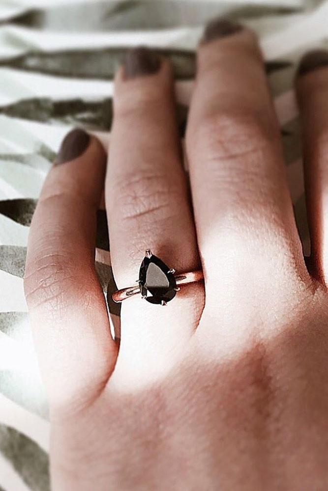 black diamond engagement rings pear cut engagement rings simple engagement rings