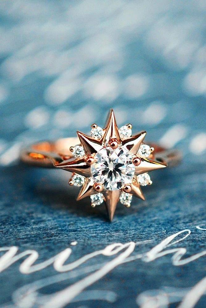colored engagement rings moissanite engagement rings rose gold engagement rings