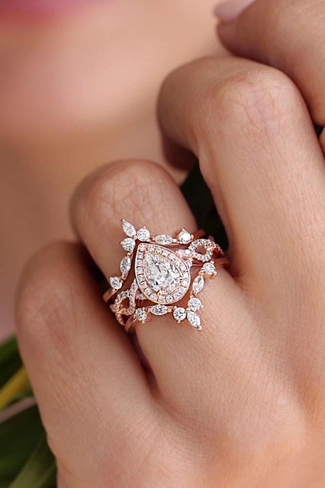 diamond wedding rings unique wedding rings rose gold wedding rings bridal sets floral rings