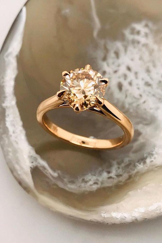 rose gold engagement rings champagne diamond engagement rings beautiful engagement rings solitaire rings