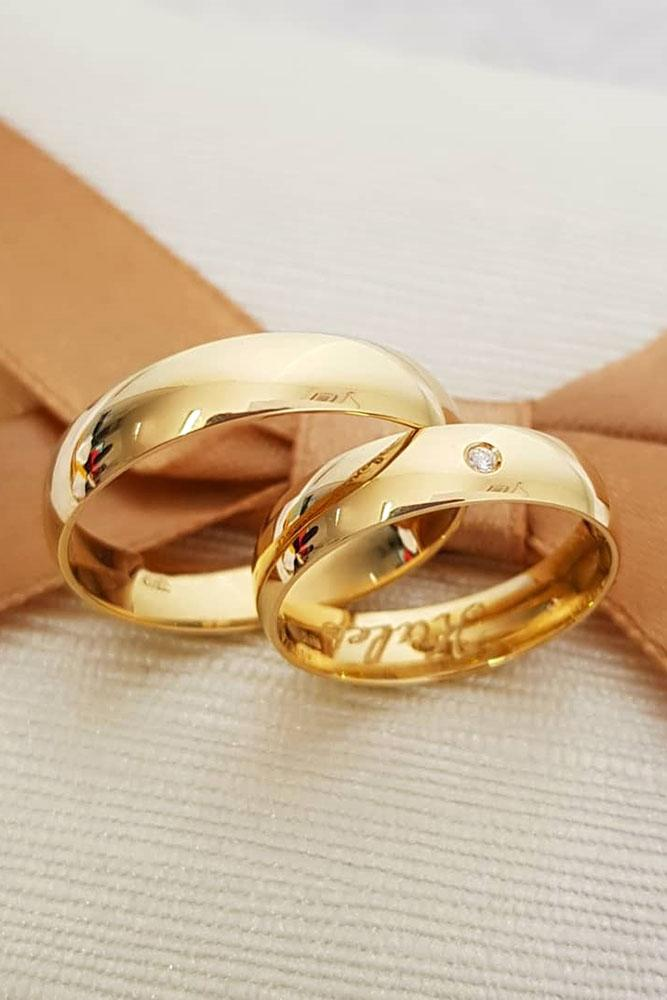 rose gold engagement rings classic wedding bands matching wedding bands